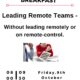 Flyer promoting a Leadership Breakfast in Guildford on 9th October
